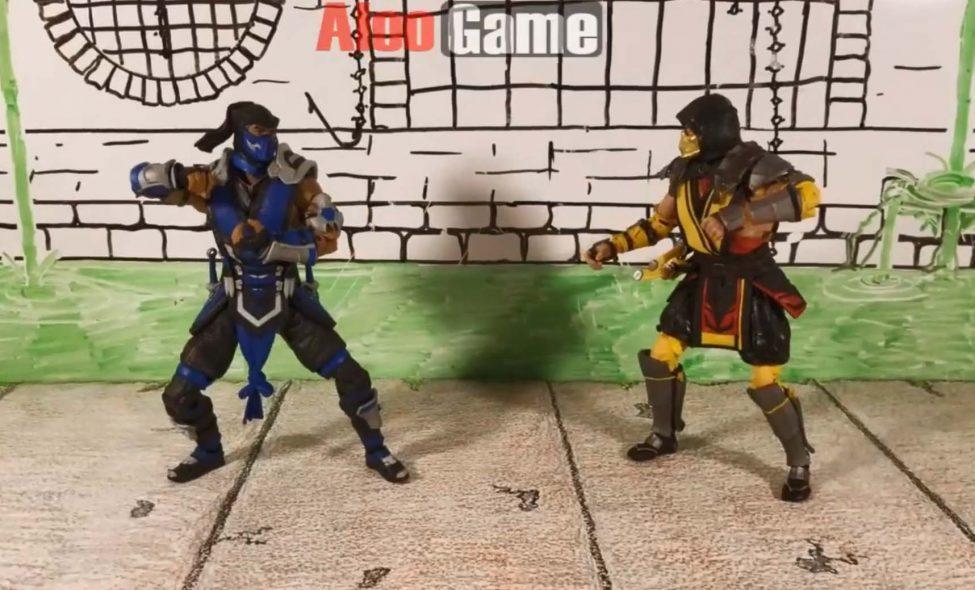 استاپ موشن مورتال کمبات 11 | Stop Motion Mortal Kombat 11 Scorpion vs Sub-Zero