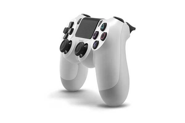 دسته بازی بی سیم مدل Dualshock 4 White سفید مناسب برای PS4 اصلی امریکا