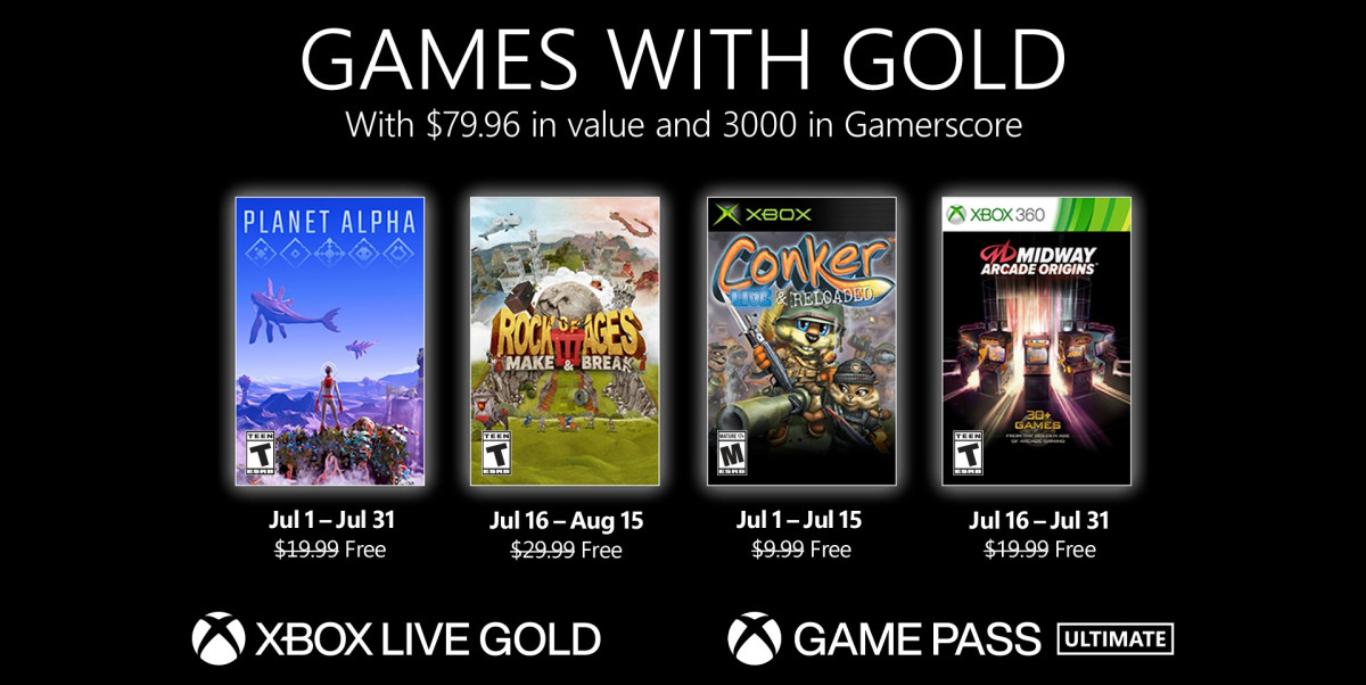 لیست بازی های Xbox Live Gold رایگان برای ژوئیه 2021
