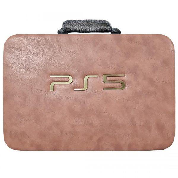 کیف کامل کنسول بازی PS5 رنگ کرمی