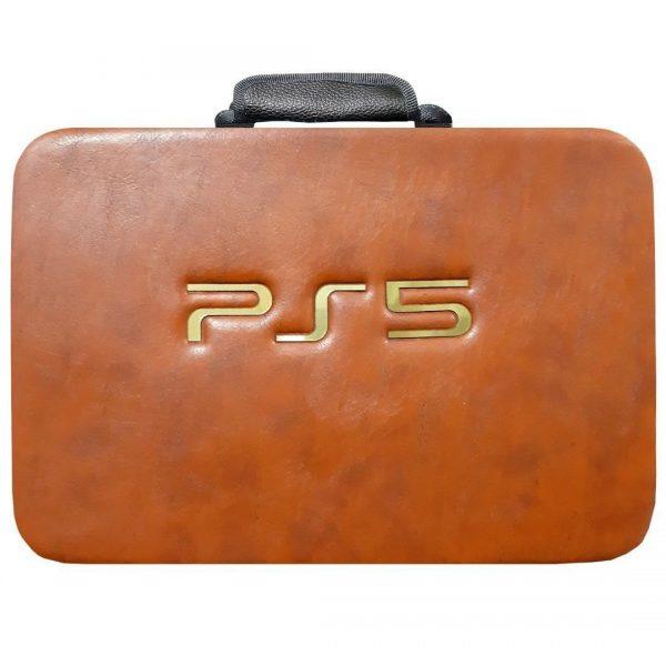 کیف کامل کنسول بازی PS5 رنگ قهوه ای
