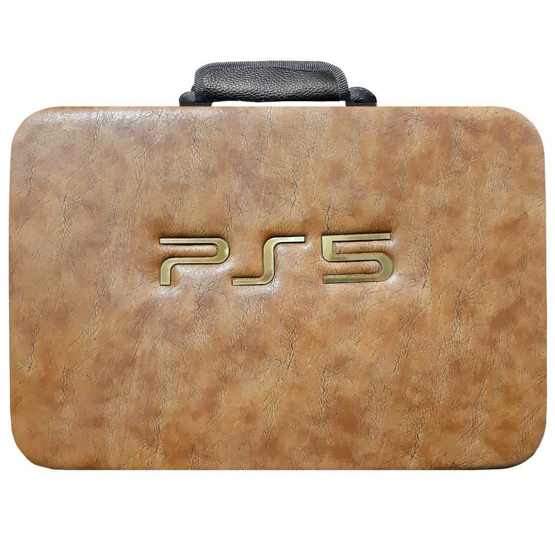 کیف کامل کنسول بازی PS5 رنگ خردلی